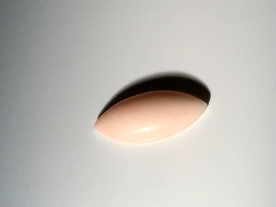 Angel Skin Coral 18.25 mm Marquis Cabochon (4 ct)