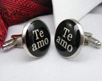 Te amo Mancornas - Español - Spanish Cufflinks - Wedding Ideas - Padre de la novia - Mens Accessories Father of the Bride Jewellery Weddings