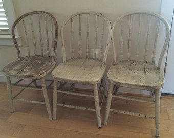 Primitive Antique Spindle Back Chair, Kitchen Chairs, Bentwood Chair,  Grange, Farmhouse