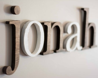 Nursery Letters, Baby Name, Individual Wood Letters, Wooden letters for nursery, Nursery Decor, Over the crib name sign, painted wood letter
