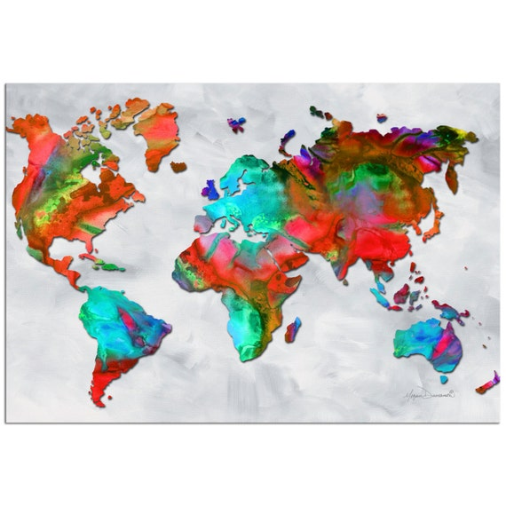 Colorful world map art beauty of color v25 rainbow gumiabroncs Gallery
