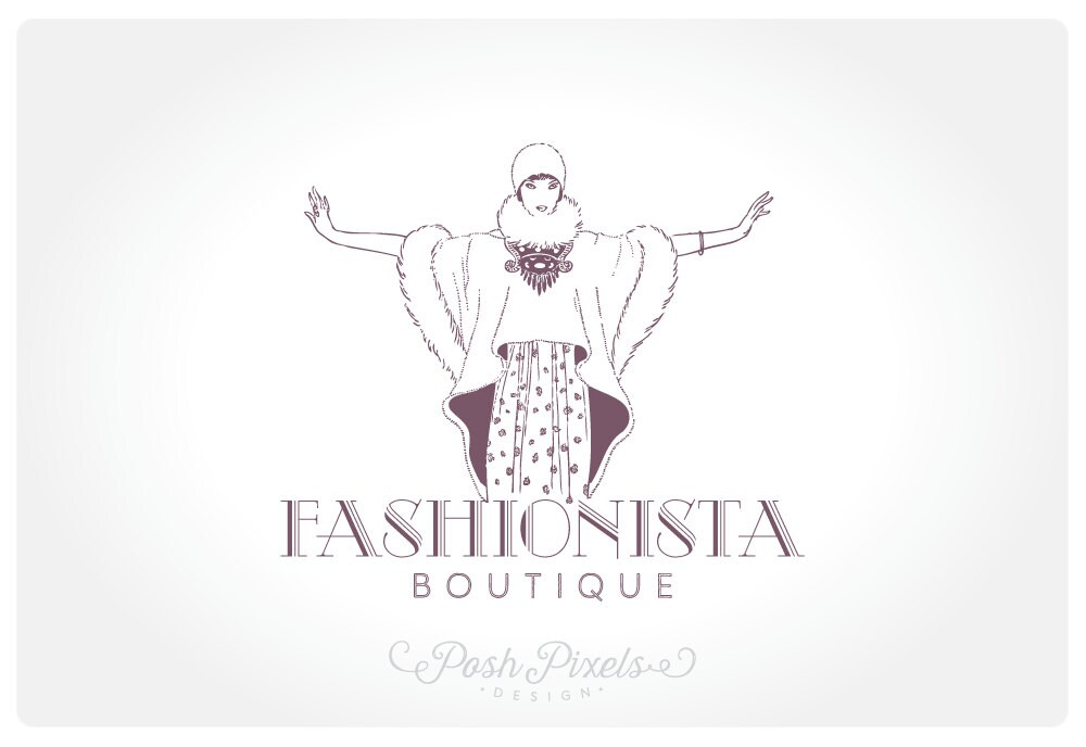Logo Design Premade Fashion Hand Drawn Vintage