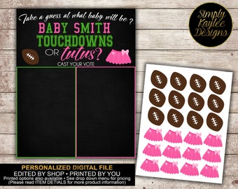 Touchdowns or Tutus Gender Reveal Voting Game