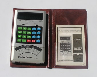 Vintage Radio Shack EC-21 Blackjack Calculator