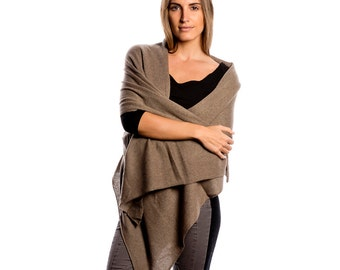 Taupe Wrap/Beige Cashmere Wrap/Taupe 100% Cashmere Wrap/Taupe Cashmere Scarf
