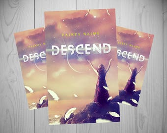 "Pre-Made eBook Cover ""Descend"" (Feathers/Angels/Young Adult/Woman in Dress)"