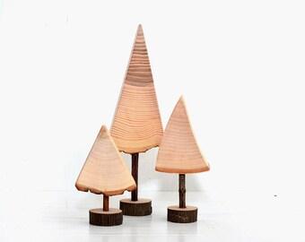Set of 3 wood Christmas trees, Tabletop decorations Christmas tree, Wooden Christmas tree, Natural wooden trees, Christmas Holiday decor