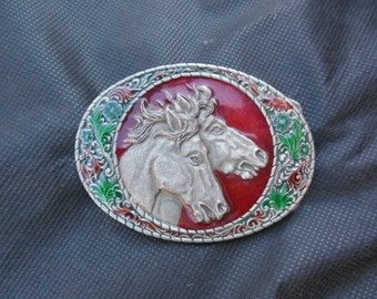 WHOLESALE / buckle / belt buckle / 80s vintage / horses / savannahwillow
