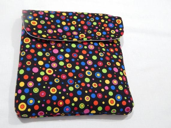 Stamparatus Portfolio Case  with Pocket Flap Cover Happy Dots  Design Velcro Enclosure