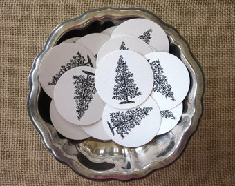 Partridge in a Pear Tree Round Paper Gift Tags Set of 10