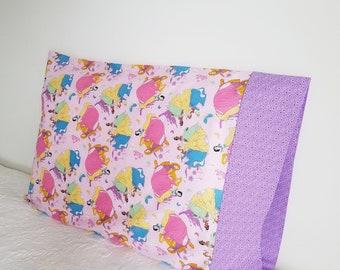 Disney Princess Inspired Pillowcase / Belle ; Rapunzel ; Snow White ; Tiana ; Sleeping Beauty ; Cinderella / Childs Bedroom