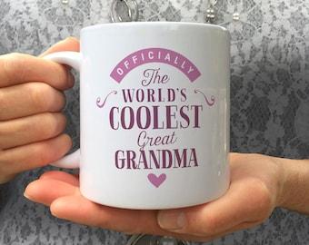 Cool Great Grandma, Great Grandma Gift, Great Grandma Mug, Birthday Gift For Great Grandma! Great Grandma, Great Grandma Present