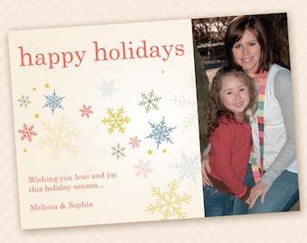 Custom Holiday Snowflake Photo Card