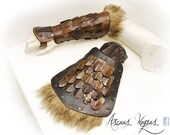Orc leather bracers with ...