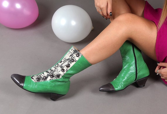 boots designers Unique boots Low and Women's button shoes heels shoes Zipper leather boots boots winter boots grey women Green for green gwYpqA