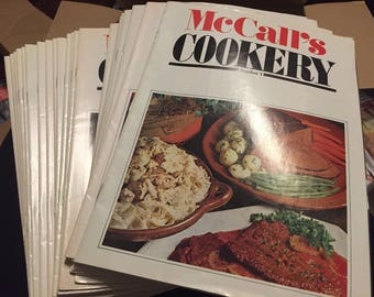 McCall's Cookery Magazines Vintage 1983 1-24 Like New Condition Cookbooks