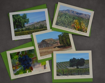 Scenes from the Central CA Valley - blank notecards with original photography