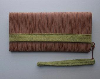 Warm Leatherette Clutch Wallet with Wrist Strap