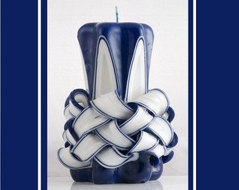 Carved candle - Pillar Candle - Decorative candle - Gift Idea