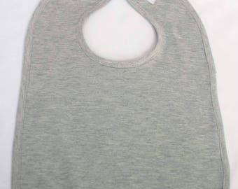 Baby bib grey