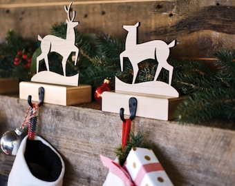 Christmas Stocking Hangers | Made in USA  (set of 2 holders)
