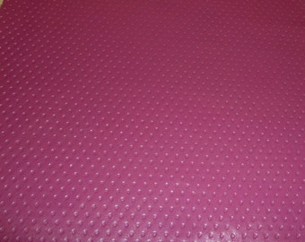 "Leather CLOSEOUT 5""x11"" Thin MAGENTA / Mauve DIMPLES Embossed Cowhide #394 1.5 oz / .6 mm PeggySueAlso™"