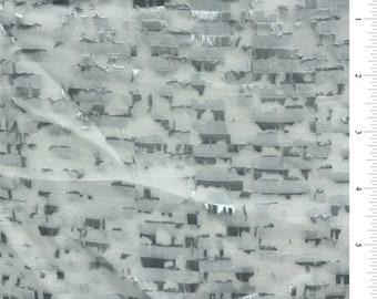 Flint Blue Eyelash Chiffon, Fabric By The Yard