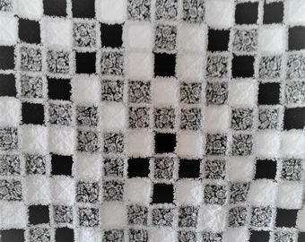 Black & White Rag Lap Quilt