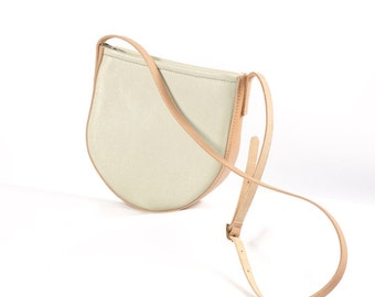 Cream + Natural Leather Crossbody