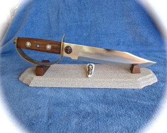 Custom Knife - Bowie Knife with D-Guard - Southwestern - Native American