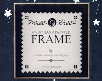 Mill Hill - Frame for Beaded Kits - 6 x 6 inches - MATTE BLUE with STARS - GBFRFA7