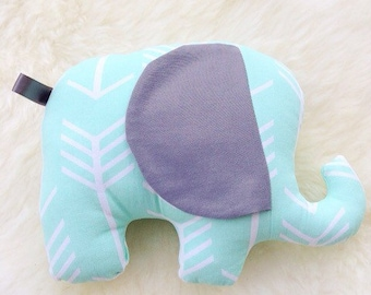Elephant Stuffed Toy, Arrows Soft Toy, Stuffed Animal, Nursery Decor, Elephant Plush Toy, Baby Shower Gift