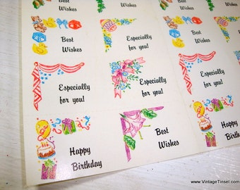 16 Vintage Labels, All Occasion, Happy Birthday, Best Wishes, Especially For You, Package Decoration, Scrapbook Embellishment   (881-15)