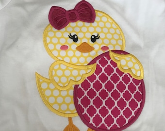 Easter chick with egg capri set