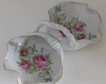 Dresden Rose Design Candy Dish