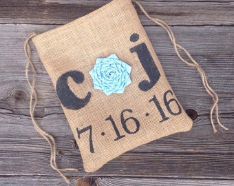 Drawstring Bag, Dollar Dance Bag, Gifts Under 25, Gifts for Bride, Rustic Bag, Personalized Wedding Bag, Summer Wedding, Bridal Shower Gift