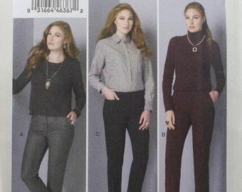 Vogue 9155, Misses' Pants Sewing Pattern, Easy Pants Sewing Pattern, Misses' Patterns, Misses' Size 4, 6, 8, 10, 12, New and Uncut