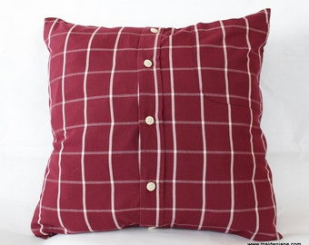 2016 Custom Memory Pillow Case Made from Upcycled Men's Shirt - Made to Order from YOUR Shirt