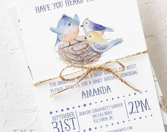 Baby Shower Invitations - Adding to the Nest (Style 13693)