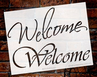 Words of Welcome Stencil -Select size -  by StudioR12