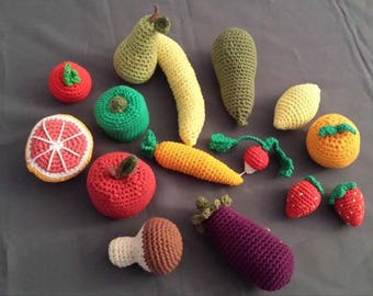 fruits and vegetables to the market, 100% cotton, birthday gift, happy to offer.