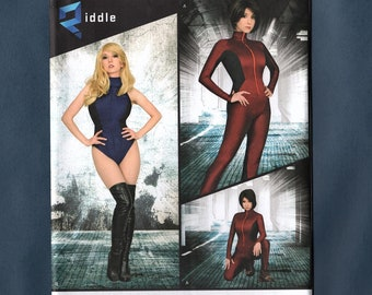 Simplicity 8286 Misses' Knit, Woven Jumpsuit, Leotard Riddle Cosplay Costume Sewing Pattern,  Size 14 - 16 - 18 - 20 - 22, New Pattern
