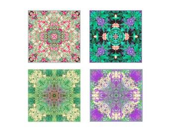 Mandala Print Set, New Age Decor, Zen Art, Meditation Prints, Flower Mandala Art, Abstract Wall Decor