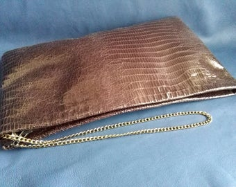 SALE! Leather clutch italian leather bag handmade leather clutch leather bag black purse metal bag zipper leather clutch