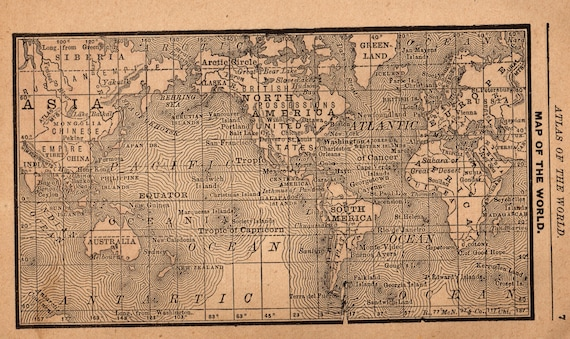 Rare antique world map of the world gallery wall art office gumiabroncs Image collections