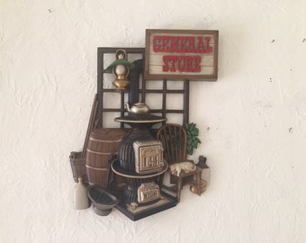 Burwood 19 inch General Store wall decor, Vintage home decor, 60's