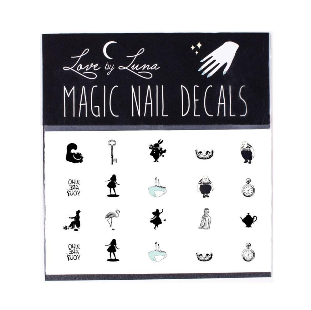 Original Alice in Wonderland Nail Decals / Vintage Alice in ...