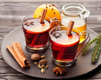 Mulling Spices, Mulled Wine, Mulled Cider, Mulled Wine Spices, Mulled Cider Spices, Holiday Mulled Wine, Spices, FREE! Six Cinnamon Sticks!