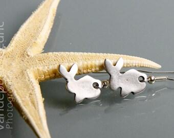 Silver Bunny earrings
