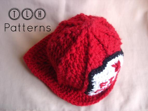Crochet Fireman Hat Pattern Crochet Hat Pattern Costume Hat